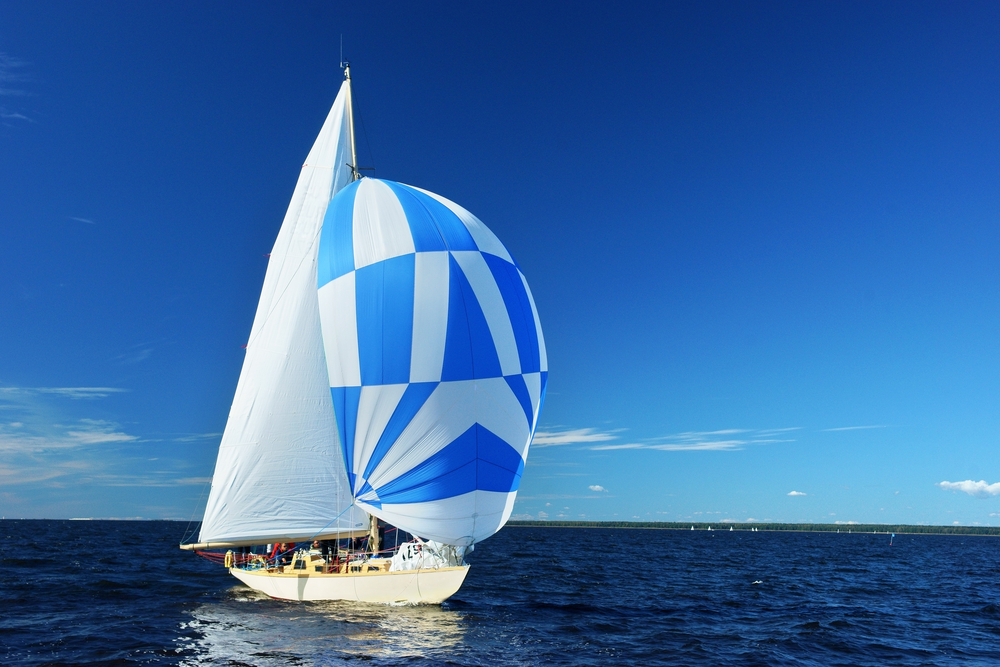 extras on a boat charter spinnaker